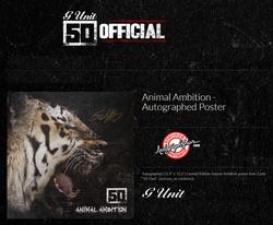50 Cent G-Unit Signed Animal Ambition Album Flat Poster Video Proof