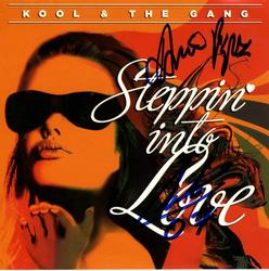 Kool & The Gang Signed X2 Steppin Into Love CD Cover