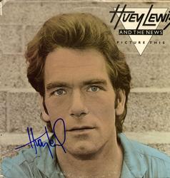 Huey Lewis Signed Picture This Album Cover