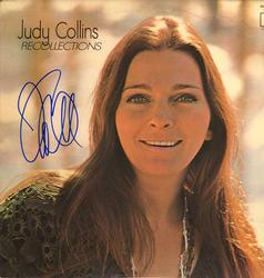 Judy Collins Signed Recollections Album Cover