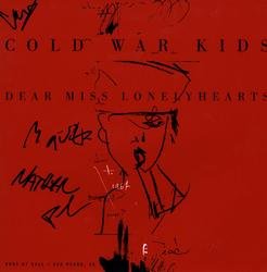 Cold War Kids Autographed X4 Lonely Hearts Album Flat