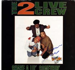 2 Live Crew Chris Won Signed Framed Album Sleeve