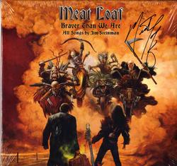 Meat Loaf Autographed Braver Than We Are Album Lp Proof