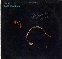 Todd Rungren Signed Healing Album Lp Cover