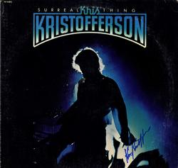 Kris Kristofferson Signed Surreal Thing Album Cover