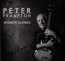 Peter Frampton Signed Acoustic Classics Album Cover
