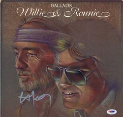Willie Nelson Signed Ballads Album Cover