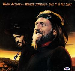Willie Nelson Autographed Take It To The Limit Album Cover