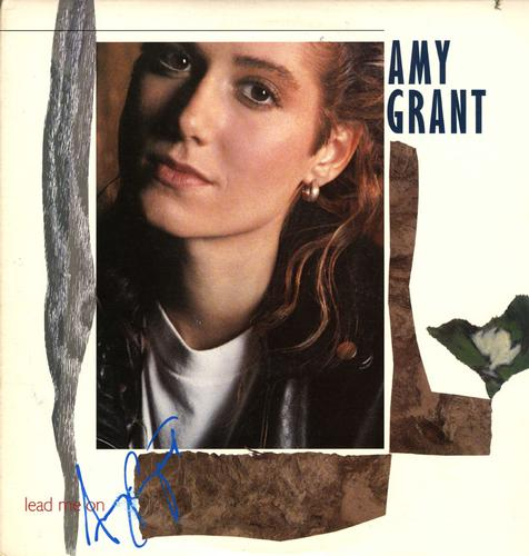 Amy Grant Signed Lead Me On Album Cover