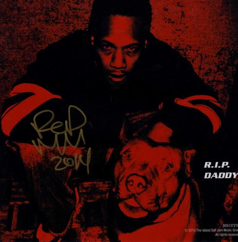 Redman Signed R.I.P. Daddy Album Flat