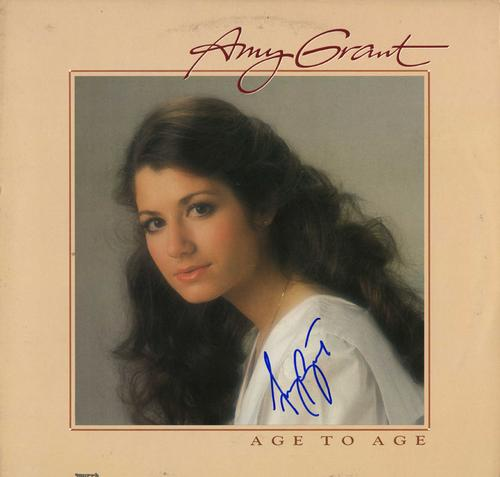 Amy Grant Signed Age To Age Album Cover