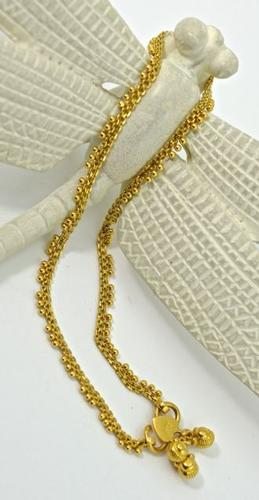 22K Yellow Gold Anklet