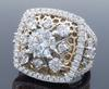 Gabriel & Co. 18kt Two-Tone 3.10CTW Diamond Ring