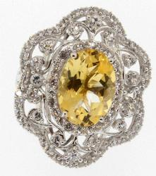 Citrine & White Topaz Ring