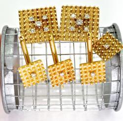 Exquisite 14K & Diamond Man's Dress Set