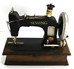 Vintage Box Sewing Machine Style