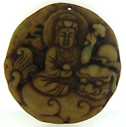 Old Nephrite Hand Carved Pendant