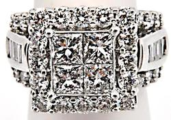 14K WHITE GOLD LADIES DIAMOND ENGAGEMENT RING