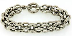 Gents 3D Interlocking Link Bracelet, Heavy Gauge