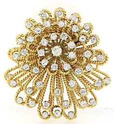 Vintage VS Diamond Brooch in 18K