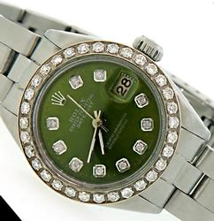 Ladies Rolex Datejust w/ Diamond Dial & Bezel