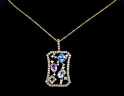 Le Vian Diamond and Multigemstone Necklace