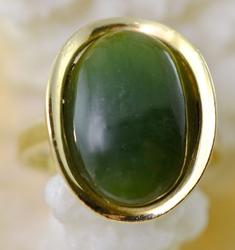 Nicely Designed 14K Jade Ring