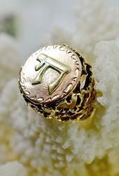 Bold 14K Chai Ring