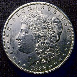 Nearly Uncirculated 1896 Morgan Silver $