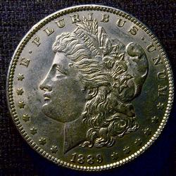 Nearly Uncirculated 1889 Morgan Silver $