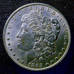 Nearly Uncirculated 1885 Morgan Silver $