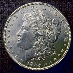 BU 1885 Morgan Silver $