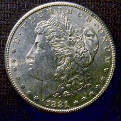 BU 1881-S Morgan Silver $
