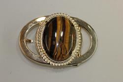 Natural Tigereye Belt Buckle