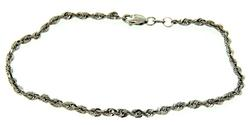 Nice Twisted Rope Bracelet in White Gold