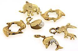 Fun Animal Charms in Yellow Gold