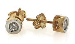 Timeless Fashion: Diamond Stud Earrings, Bezel Set