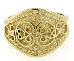 Etruscan Style Gold Band