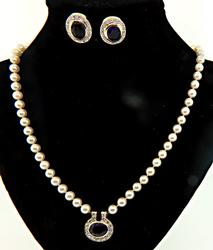 Outstanding Amethyst, Diamond & Pearl Set