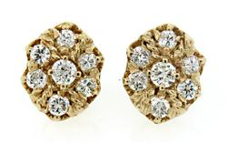 Majestic Diamond Cluster Earrings