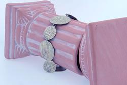 Stylish JoiDArt Sterling Disc Bracelet