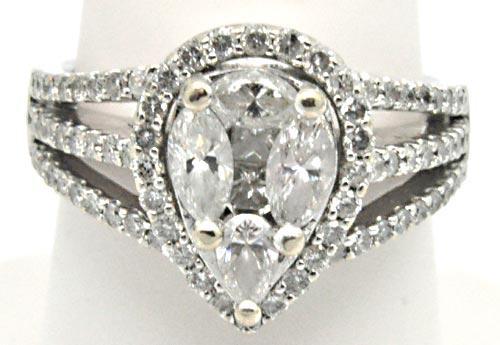 Gorgeous 14kt Gold Pear Cut Diamond Ring