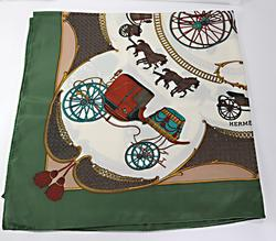 Hermes Horse & Carriage Scarf