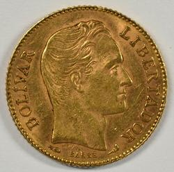Lovely 1912 Venezuela 20 Bolivares Gold Piece