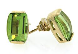 Fancy Peridot Stud Earrings