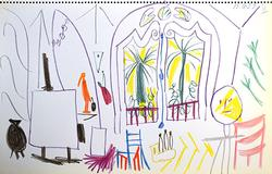 Collectible Pablo Picasso Color Lithograph Circa 1960