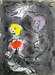 Collectible Limited Edition Chagall Lithograph Circa 1956
