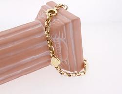 Lovely Heart Station Gold Bracelet