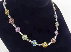 Excellent Quality 18kt Flower Station Necklace