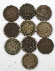 1857-1864 CN Cents and 1864 and 1865 Bronze Cents